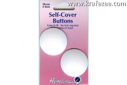 HEMLINE Plastic Nylon Self Cover Button 38 mm (2 pc/pack)