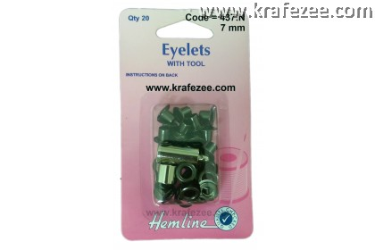 HEMLINE 7 mm Bronze Color Eyelet and Tools