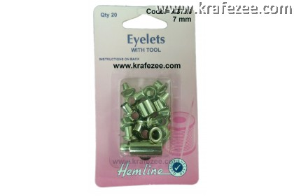HEMLINE 7 mm Nickle Color Eyelet and Tools