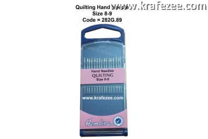 HEMLINE Hands Needles QUILTING Size 8-9
