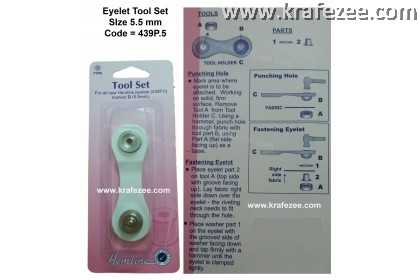 HEMLINE Eyelet Tools Set Type D
