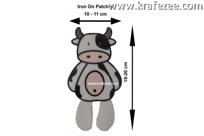 Iron On Patch Embroidery - Dairy Cow