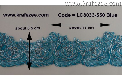 Beautiful Border Lace - Blue