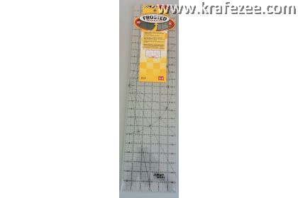 "6"" x 24"" OLFA Quilt Frosted Grid Ruler"