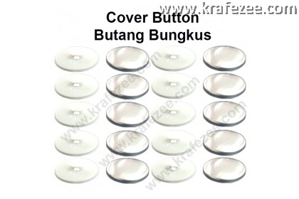 Butang Balut Cover Button Flat - 24L (15mm) [20 sets]