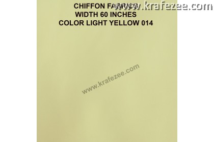 "Kain Chiffon Fabrics 60"" Wide Light Yellow (2 Meter)"