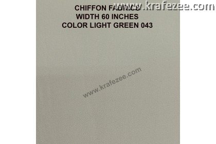 "Kain Chiffon Fabrics 60"" Wide Light Green (2 Meter)"