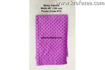 Kain Minky Dots Fabrics Purple