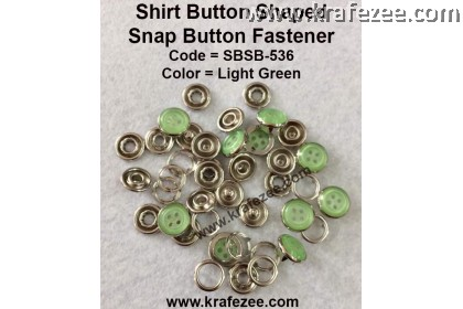 Button Shaped Snap Button Fastener Light Green