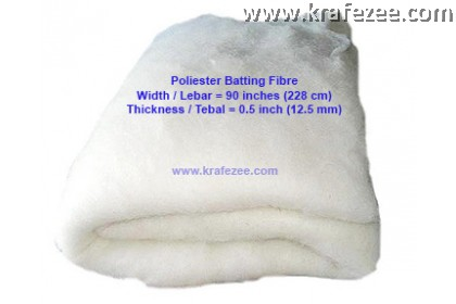 Polyester Batting Fibre. 90 inch wide. 0.5 inch thick