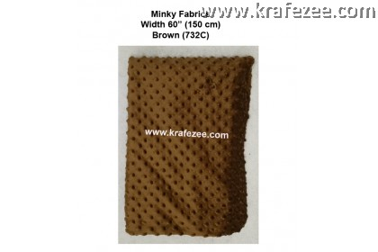 Kain Minky Dots Fabrics Brown