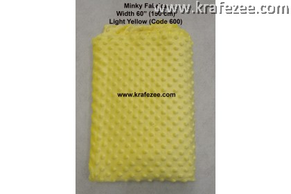 Kain Minky Dots Fabrics Light Yellow