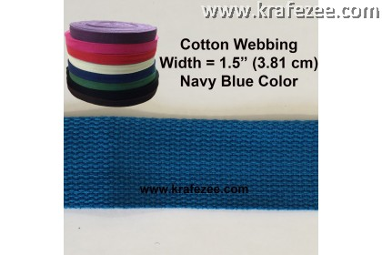 Cotton Webbing 1.5 inch / 38 mm Navy Blue