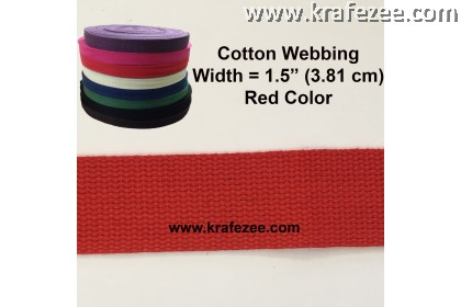 Cotton Webbing 1.5 inch / 38 mm Red