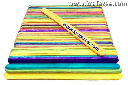 Mix Color Ice Cream Sticks 150 mm x 18 mm