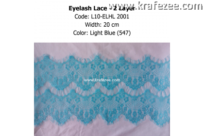 Eyelash Lace 2 Layer - Light Blue (0.5 meter)