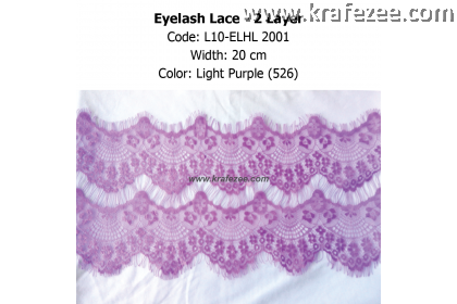 Eyelash Lace 2 Layer - Light Purple (0.5 meter)