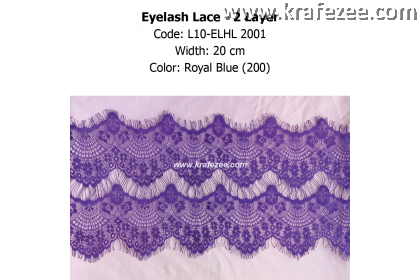 Eyelash Lace 2 Layer - Royal Blue (0.5 meter)