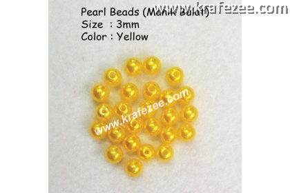 Manik Bulat 3mm Yellow (1 Pack 10 gram)
