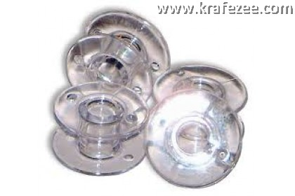 Clear Plastic Bobbin (Sekoci) 10 pieces