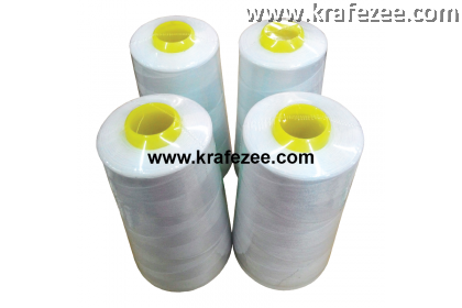 White Sewing Thread 3000m