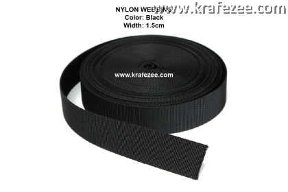 Nylon Webbing 1.5 inch / 38 mm Black