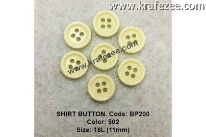 Shirt Button BP200 11mm. - Col: 502 (50 pcs)