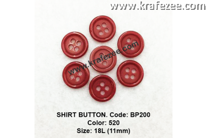 Shirt Button BP200 11mm. - Col: 520 (50 pcs)