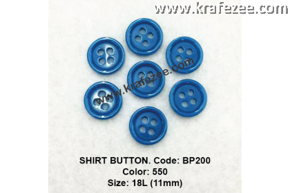 Shirt Button BP200 11mm. - Col: 550 (50 pcs)