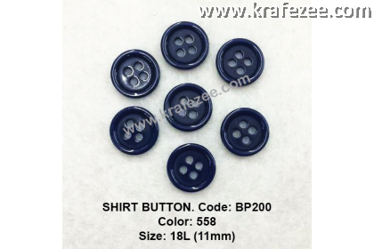 Shirt Button BP200 11mm. - Col: 558 (50 pcs)