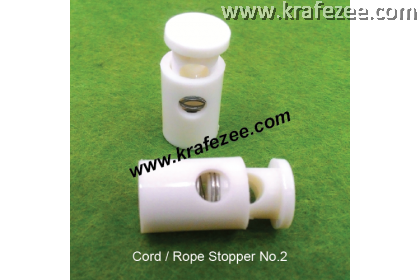 Plastic Cord Lock #2 - White (2 pcs)