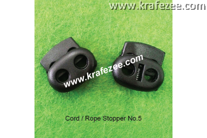 Plastic Cord Lock #5 - Black (2 pcs)