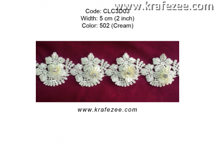 Flower Lace with Diamond (CLC3D03) - Col.502