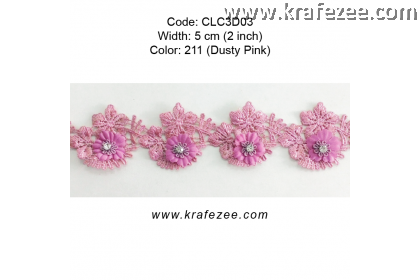 Flower Lace with Diamond (CLC3D03) - Col.211