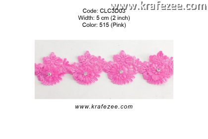 Flower Lace with Diamond (CLC3D03) - Col.515