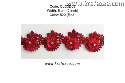Flower Lace with Diamond (CLC3D03) - Col.520