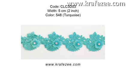 Flower Lace with Diamond (CLC3D03) - Col.548
