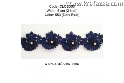 Flower Lace with Diamond (CLC3D03) - Col.560