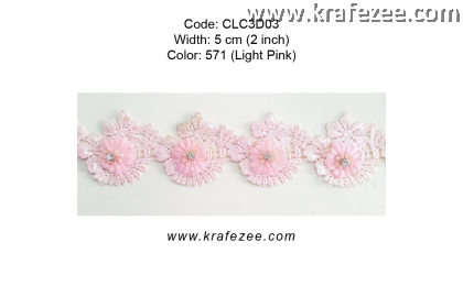 Flower Lace with Diamond (CLC3D03) - Col.571