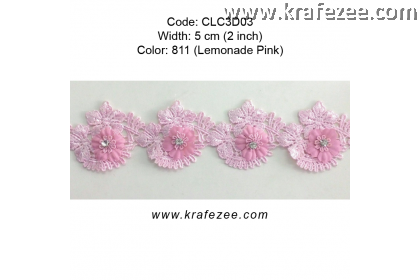 Flower Lace with Diamond (CLC3D03) - Col.811