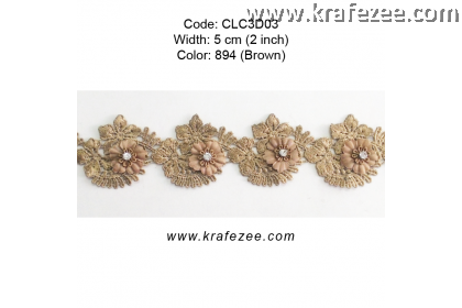 Flower Lace with Diamond (CLC3D03) - Col.894