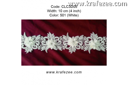 Flower Lace with Pearl (CLC3D05) - Col.501