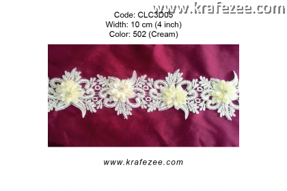 Flower Lace with Pearl (CLC3D05) - Col.502