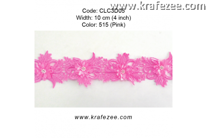 Flower Lace with Pearl (CLC3D05) - Col.515