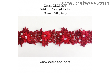 Flower Lace with Pearl (CLC3D05) - Col.520