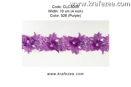 Flower Lace with Pearl (CLC3D05) - Col.526