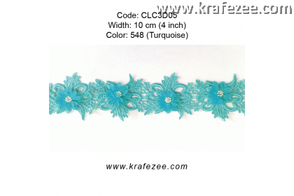 Flower Lace with Pearl (CLC3D05) - Col.548