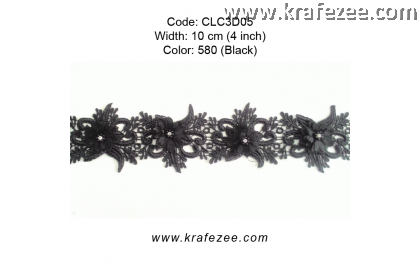 Flower Lace with Pearl (CLC3D05) - Col.580