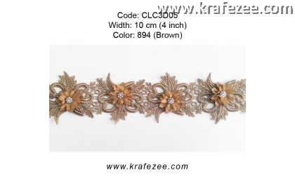 Flower Lace with Pearl (CLC3D05) - Col.894