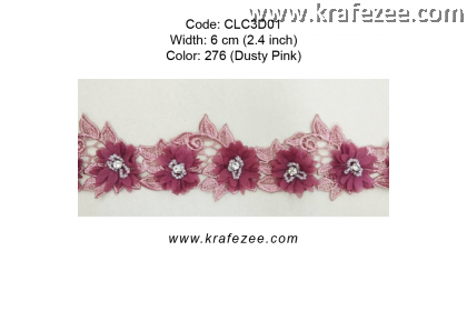 Flower Lace with Beads (CLC3D01) - Col.276